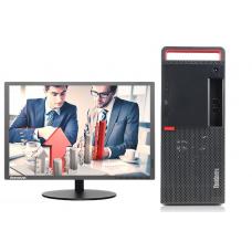 联想 ThinkCentre M720t-D234 台式计算机(i5-9500 /8G/1T+256G SSD //DVDRW)19.5寸显示器